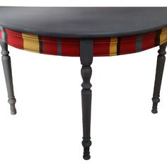 Superbe ancienne table console stylis e en bois massif sur for Meuble chinois belgique
