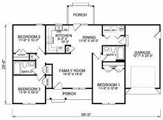 Casa branca de 3 quartos e garagem