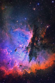 Pacman Nebula - region in the constellation of Cassiopeia and part of the Perseus Spiral Arm. It includes the open cluster IC 1590, the multiple star HD 5005, and several Bok globules. Colloquially, NGC 281 is also known as the Pacman Nebula for its resemblance to the video game character.