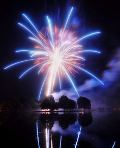 You light up my life ~ Oxford lake fireworks ~ Photo by SepiaBillo