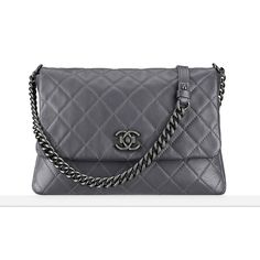 Calfskin messenger bag Chanel ❤ liked on Polyvore