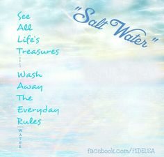 Salt water by the sea. #oceanlover