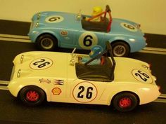 GTurner Models Austin Healey Sprite Mk1 Frogeye Racer Slot Car, ready for racing on the Toy Collector Marketplace!