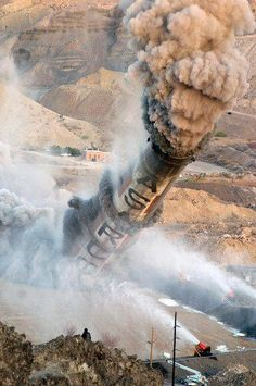 the iconic asarco smokestacks in el paso were demolished in dramatic fashion on april 13, 2013.