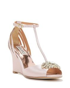 52efe86b6f3a Milly T-Strap Wedge Evening Shoe. I love this shoe! How does this. Travel  Theme DecorBadgley Mischka ...