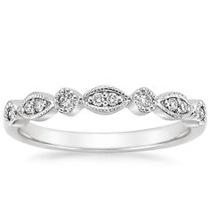 18K White Gold Tiara Diamond Ring, top view