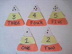 candy corn number recognition