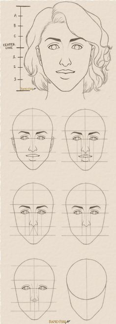 Tutorial: How to draw Female Face Step by Step See full tutorial here: http://rapidfireart.com/2017/03/03/how-to-draw-a-female-face/