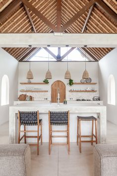 Tropical Kitchen, Boho Kitchen, Home Interior Design, Interior Decorating, Modern Home Interior, White House Interior, Boho Chic Interior, Interior Design Pictures, Natural Interior
