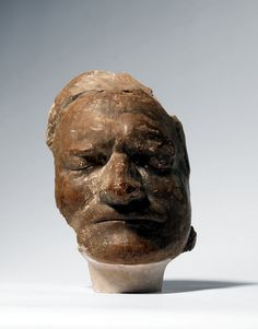 Death mask of Isaac Newton((He struggled between his own personal beliefs and that of the church and kept a secret journal about it..spent a lot of time looking to prove the existence of God~Paula))