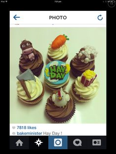 Hay day cupcakes