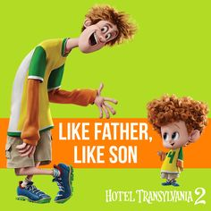 Johnny and Dennis are two peas in a pod :) - Hotel Transylvania 2 in theaters Sept 25 #HotelT2