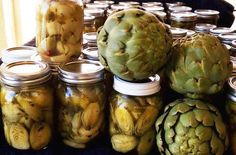 Canning - Marinated Artichokes