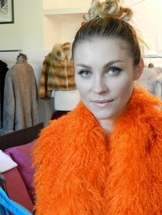 Pellicceria Borello Torino #fur #pelliccia #fourrure #jacket #fashion #mongolia #orange