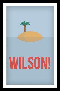 #castaway #Poster >> WILSON << Shop now! #artprint