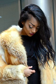 Fur coat statement. #fur #winterfashion #hswardrobe