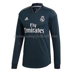 Real Madrid Fotballdrakter 2018-19 Bortedrakt Langermet Real Madrid, Athletic, Long Sleeve, Sleeves, Mens Tops, T Shirt, Jackets, Fashion, Supreme T Shirt