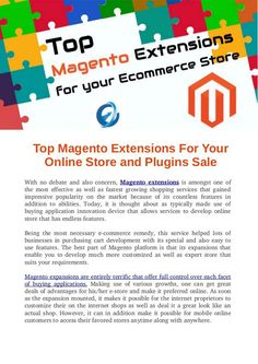 Top Magento Extensions For Your Online Store and Plugins Sale