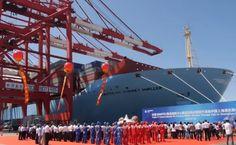 Triple-E-Makes-Its-Maiden-Call-at-Shanghai-Yangshan-Port
