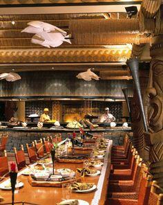 Top 10 table service: Ohana's - polynesian bbq.