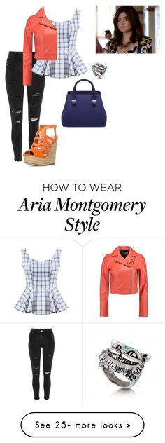 """""""Aria Montgomery"""" by junebug24-1 on Polyvore featuring River Island and T By Alexander Wang"""