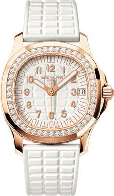 Patek Philippe Aquanaut 5068R-010 18K Rose Gold Rubber & Diamond 35.60mm Watch