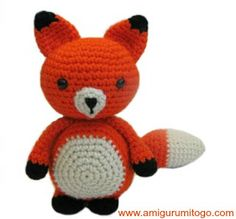 Fox free crochet pattern from Amigurumi To Go.