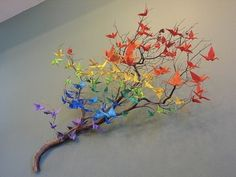 cranes on a branch