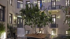 InnAthens is a design hotel enjoying a central yet quiet location just steps away from Syntagma Square and the bustling Ermou Street. InnAthens Athens Greece R:Attica hotel Hotels Athens Hotel, Athens City, Attica Greece, Athens Greece, Architecture Details, Landscape Architecture, Small Boutique Hotels, Pocket Park, Internal Courtyard