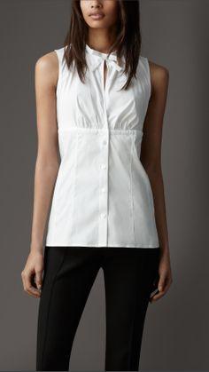 #Burberry white #blouse