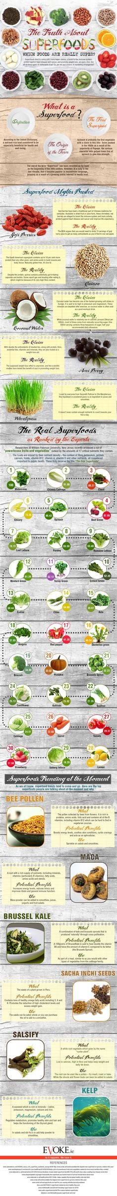 #Infographic: The Truth about #Superfoods – Which Foods are Really Super?