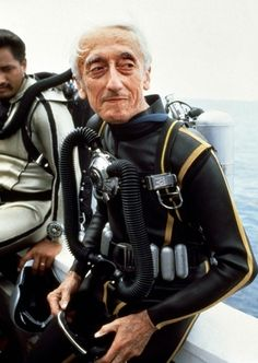 Jacques Cousteau is one of my historic heros.