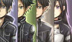 Kirito (Kazuto) SAO, ALO-1, ALO-2, GGO - By Sword Art Online ღ