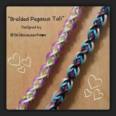 """Braided Pegasus Tail"" Rainbow Loom Bracelet/How To Tutorial"