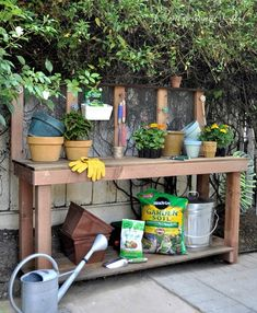 diy redwood potting bench centsational girl