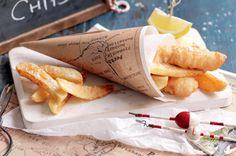 How to How to How to make fish 'n' chip cones - how_to - Here's a fun way to serve our beloved summertime staple - fish and chips. Just follow these steps!