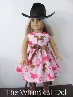 Pink Western Dress and for American Girl Doll