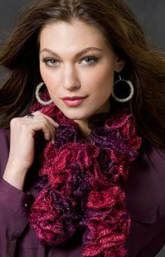 Image detail for -Knitting-Warehouse: Saucy Swirls Scarf Knitting Pattern