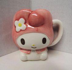Limited Hello Kitty & My Melody souvenir cup My Melody Sanrio mug 1976 RARE
