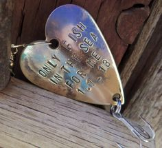 Great Groom's Gift! Personalized Fishing Lure  Fishing Lures  by CandTCustomLures, $17.00