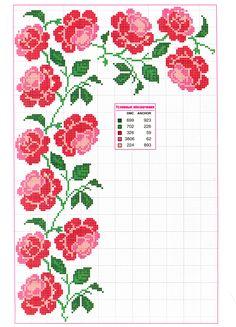 rose border and corner