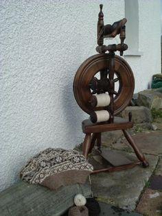 Shetland spinning and knitting