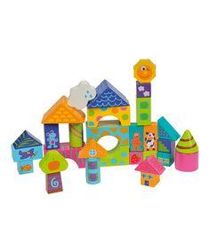 Look what I found on #zulily! Wooden Blocks Set #zulilyfinds