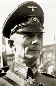 This is a candid close-up portrait of Gen Fedor von Bock, one of the German army's senior general officers with a distinguished series of commands, including spearheading the drive to Moscow in 1941. In true Prussian fashion, he sports the tall hard collar more prevalent among WW1 generals and the impeccable peaked cap.Von Bock was dismissed in 1942 because he disagreed with Hitler. He was killed along with members of his family during an air raid on May 4, 1945.