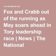 Fox and Crabb out of the running as May soars ahead in Tory leadership race | News | The National