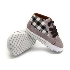 Sapatos Menino da criança Infantil Do Bebê Laços Casual Sneaker PU Xadrez Suaves Sapatos de Berço Único