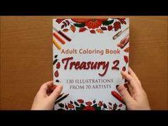 Adult Coloring Book Treasury 2 Colouring Book Flipthrough