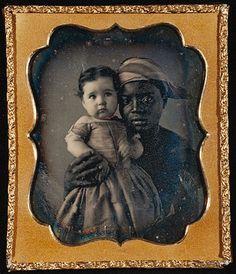 Daguerreotype, black nurse & child, c. 1850 The emotion in her eyes...