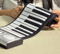 This amazing portable, lightweight electronic keyboard is small to fit in a pouch, yet produces quality sound and is loaded with features.