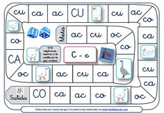 JUEGO DE LA OCA Elementary Spanish, Teaching Spanish, Teaching Resources, Early Literacy, Literacy Centers, Familia Y Cole, Teachers Corner, Bilingual Education, Phonological Awareness